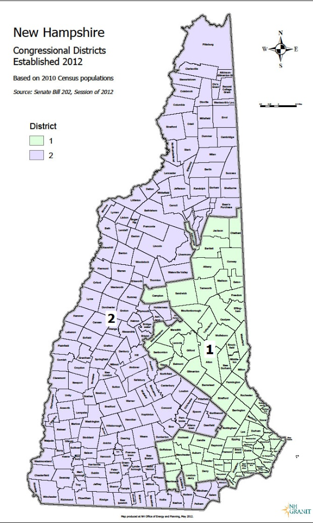 Eleven Maps That Explain New Hampshires Political Geography - Map of new hampshire towns