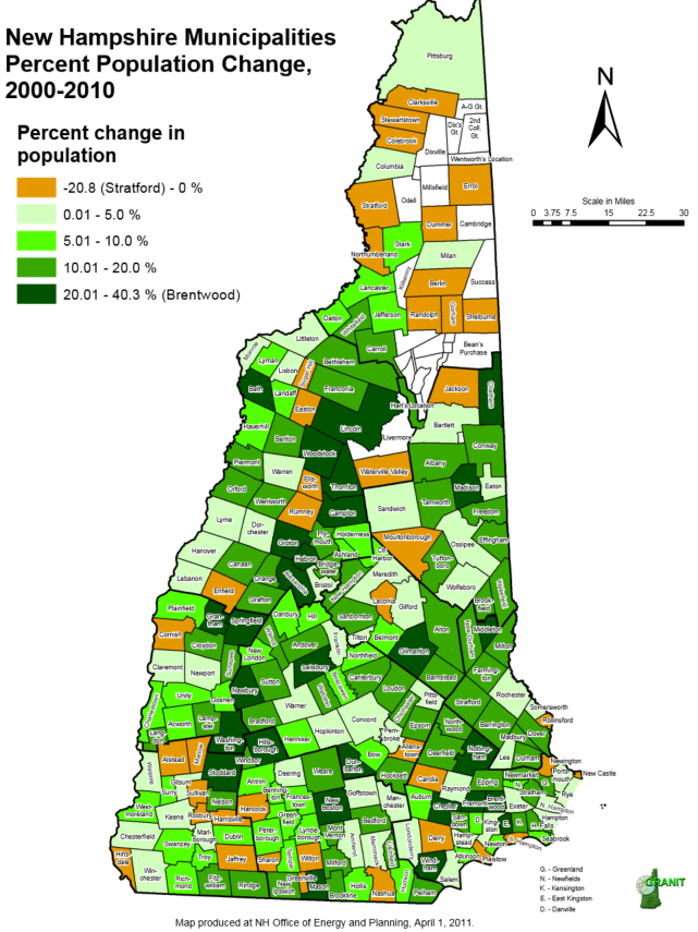 Map Of New Hampshire Towns Eleven Maps That Explain New Hampshire's Political Geography
