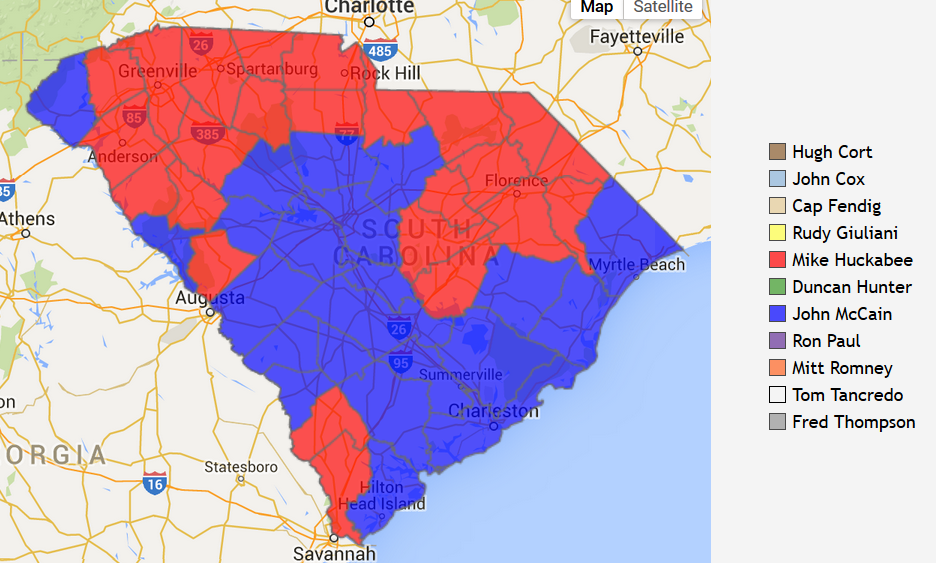 14 Maps That Explain South Carolina39s Political Geography