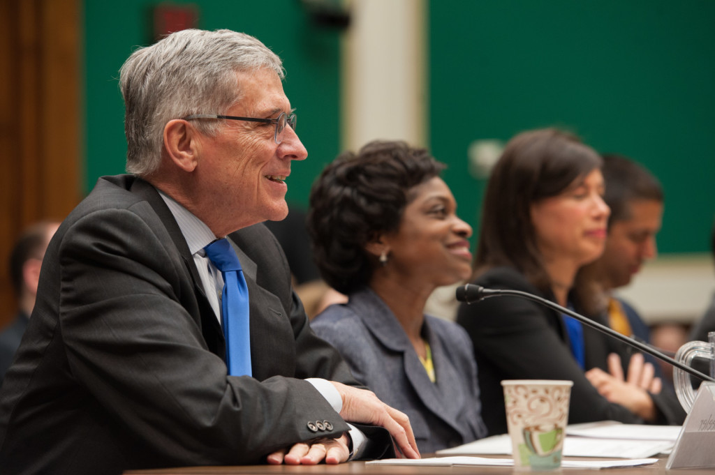 All three FCC Democrats voted for the privacy rules. (Rob Kunzig/Morning Consult)