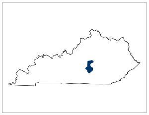 Kentucky's 54th legislative district. Image credit: Kentucky General Assembly.