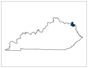 Kentucky's 98th legislative district. Image credit: Kentucky General Assembly.