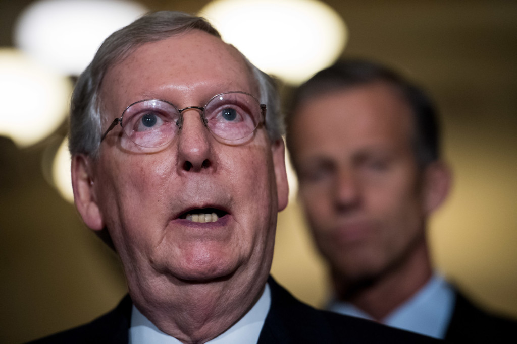 McConnell says the spring budget resolution will be dedicated to tax reform. (Rob Kunzig/Morning Consult)