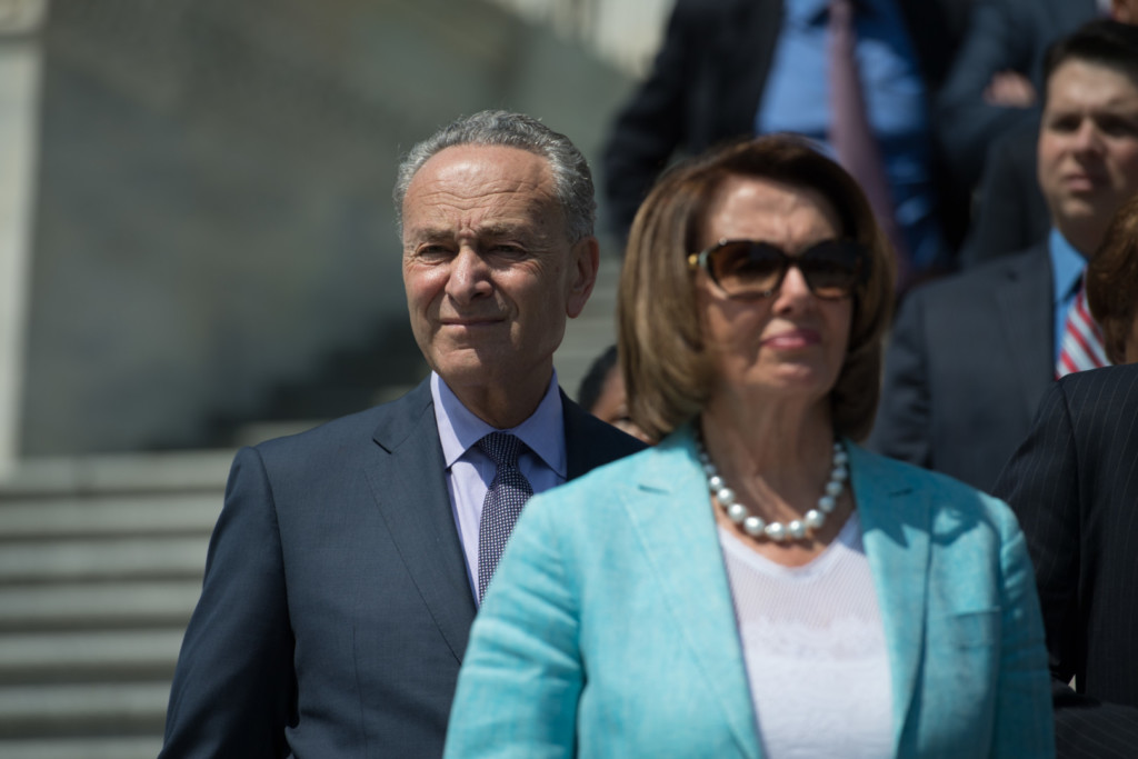 Schumer and Pelosi say Republicans have no plan for an Obamacare replacement. (Rob Kunzig/Morning Consult)