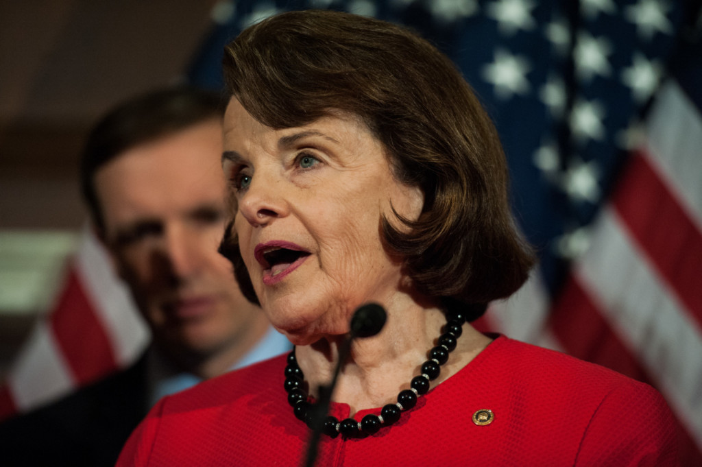 Feinstein was absent from Day 2 of Sessions' hearing. (Rob Kunzig/Morning Consult)