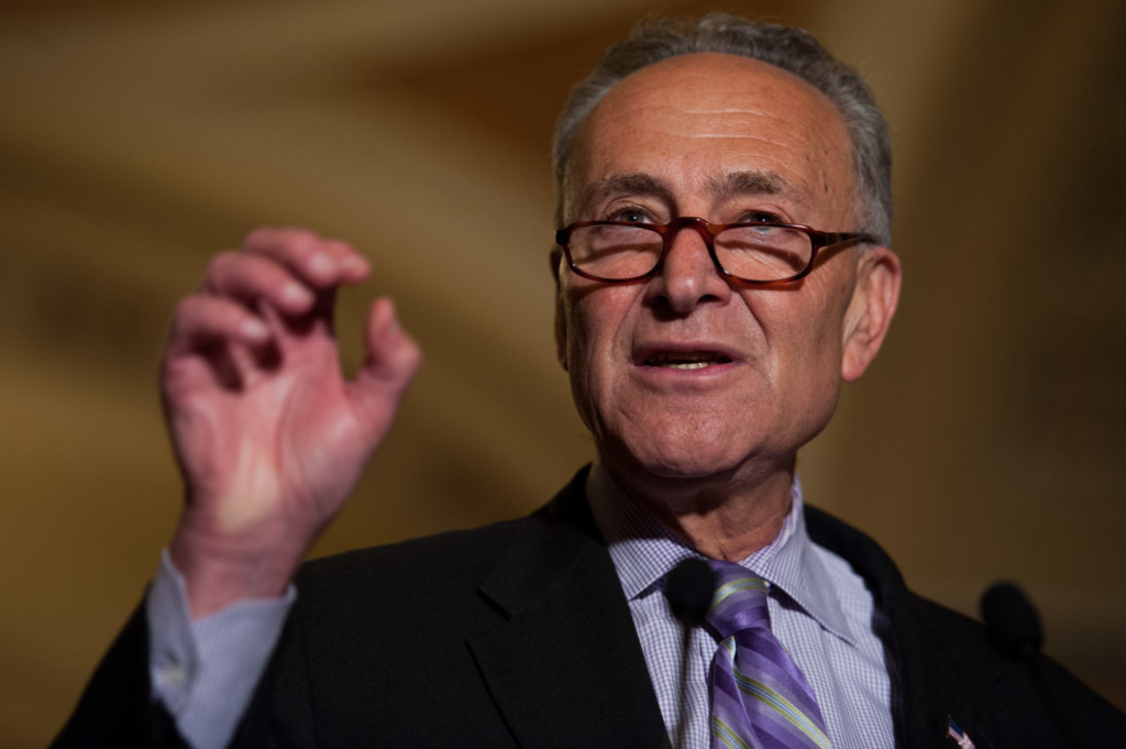Schumer said the GOP's plan will create chaos in the health care system. (Rob Kunzig/Morning Consult)