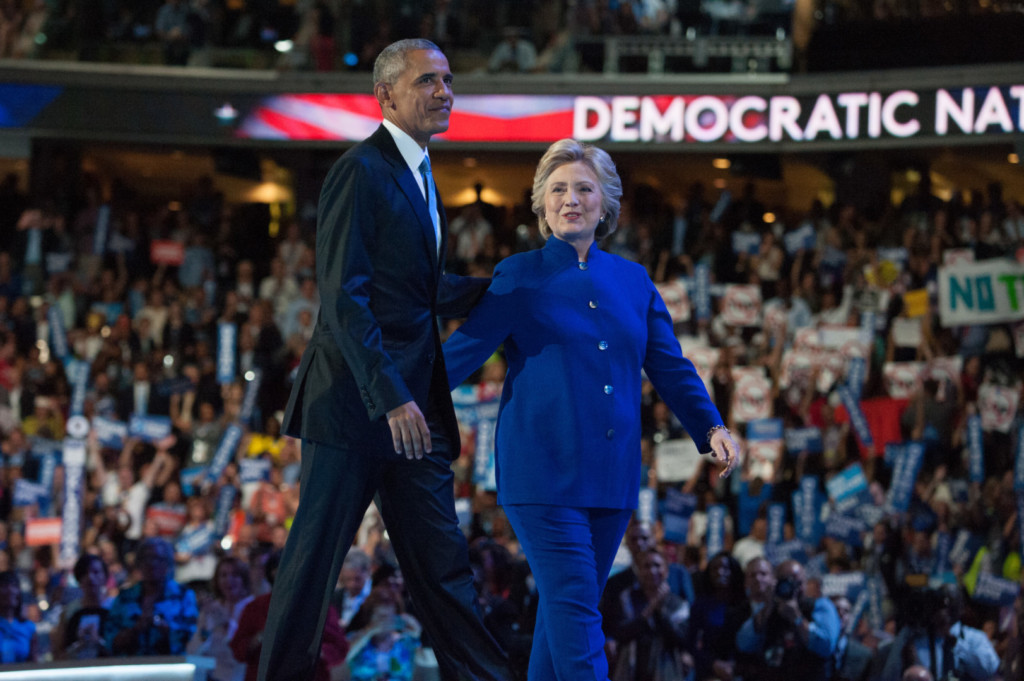 Clinton maintained her lead this week, while Obama's approval rating rose. (Rob Kunzig/Morning Consult)