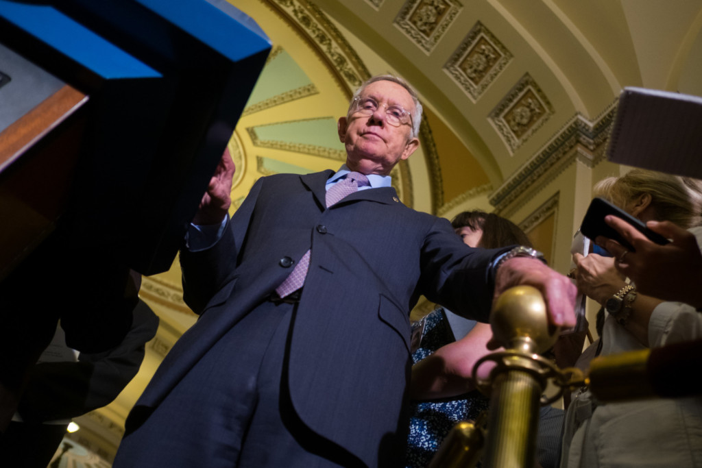 Reid says it's only a matter of time before the filibuster dies, unless the Senate changes. (Rob Kunzig/Morning Consult)