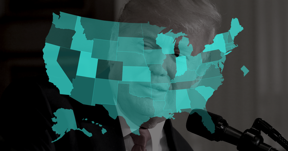 Trump Support By State Map.Tracking Trump The President S Standing Across America